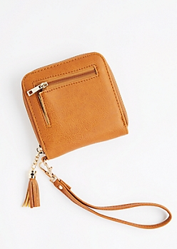 Cognac Tassel Small Wallet