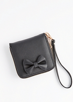 Black Bow Small Wallet
