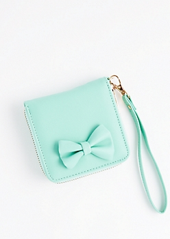 Mint Bow Small Wallet