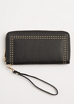 Mini Studded Border Wristlet