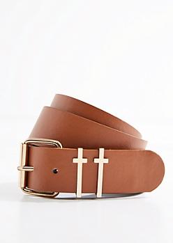 Double Cross Buckled Belt