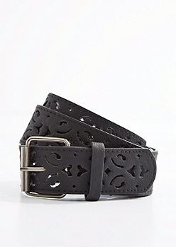 Black Filigree Belt
