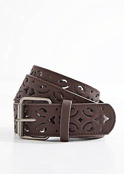 Brown Filigree Belt