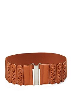 Cognac Corset Tie Stretch Belt