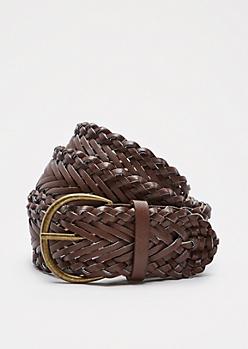 Cognac Woven Belt