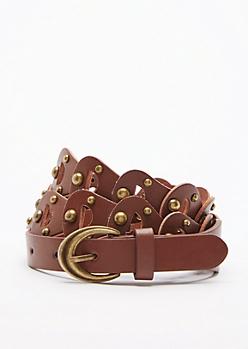 Cognac Interlock Belt
