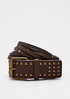Studded Split Band Belt