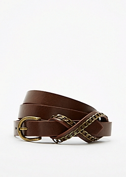 Infinity Linked Skinny Belt