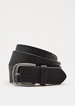 Black Studded Row Belt