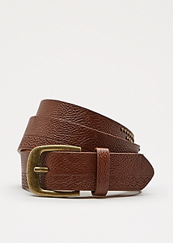 Brown Studded Row Belt