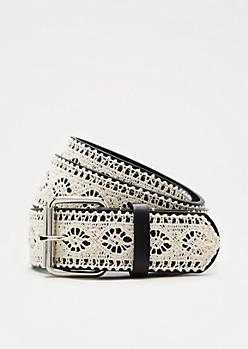 Black Crochet Belt