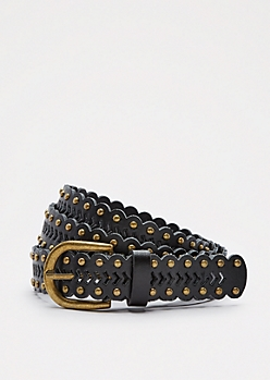 Black Arrow Studded Belt