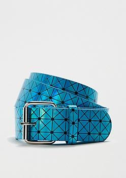 Turquoise Geo Reflective Belt