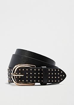 Black Metallic Studded Belt