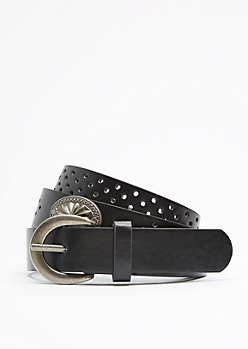 Perforated Medallion Belt