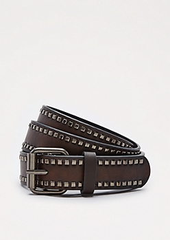 Square Studded Border Belt