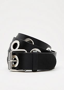 Black Large Grommet Belt