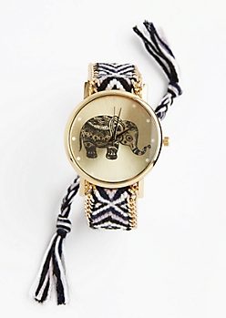 Black Geo Boho Friendship Watch