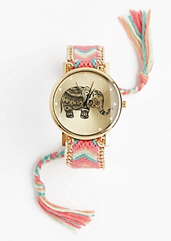 Pink Sorbet Boho Friendship Watch