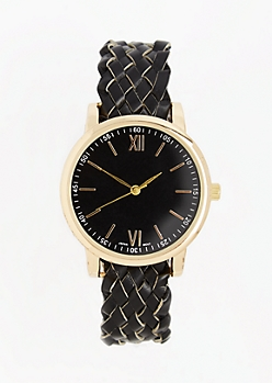 Black Braided Watch