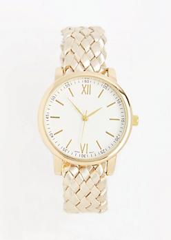 White Braided Watch
