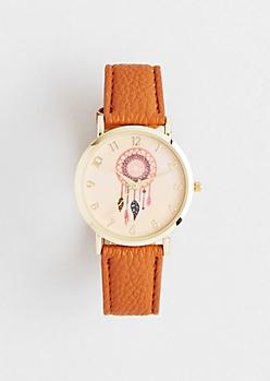 Brown Dreamcatcher Watch
