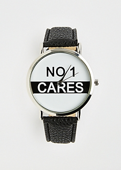 Silver Tone No 1 Cares Watch