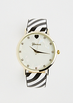 Black Striped Pearlescent Watch