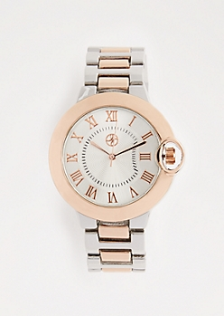 Mixed Metal Two-Tone Classic Watch