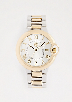 Metallic Gold Two-Tone Classic Watch