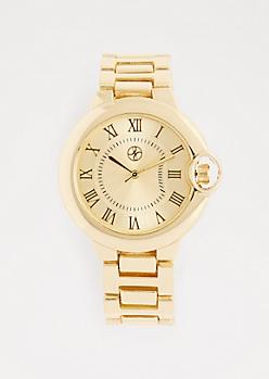 Metallic Gold Classic Watch