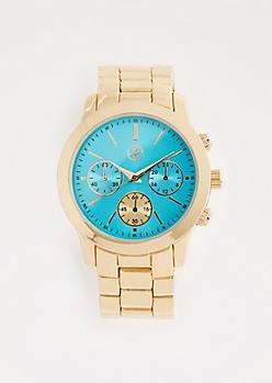 Turquoise Metallic Watch