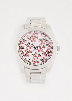 Flower Garden Metallic Watch