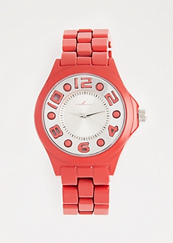 Red Bold Face Watch