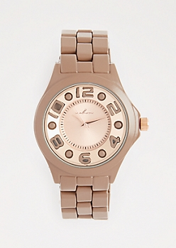 Brown Bold Face Watch