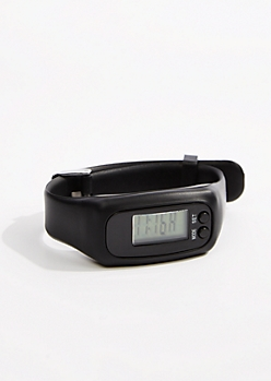 Black Digital Activity Tracker Watch