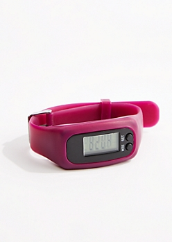 Purple Digital Activity Tracker Watch