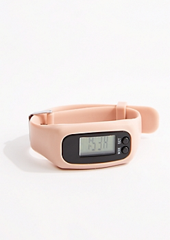 Light Pink Digital Activity Tracker Watch