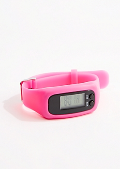 Fuchsia Digital Activity Tracker Watch