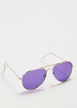 Deep Purple Lens Aviators
