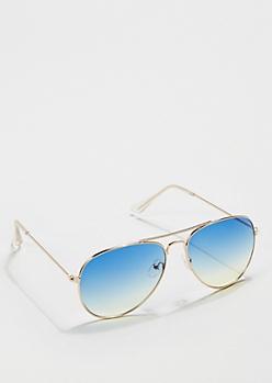 Blue Gradient Lens Aviators