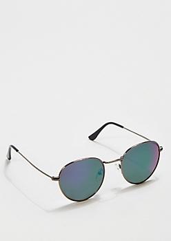 Blue Mirror Gunmetal Sunglasses