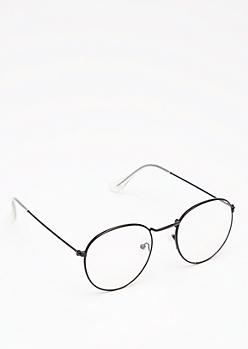 Black Rounded Glasses