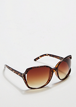 Oversized Square Tortoise Shell Sunglasses