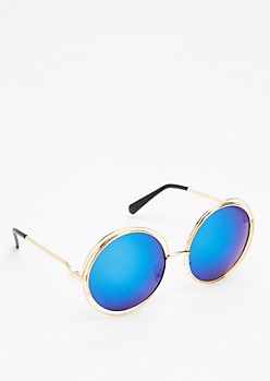 Ocean Blue Looping Retro Sunglasses