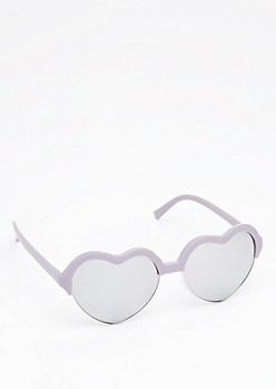 Violet Sweetheart Half Frame Sunglasses