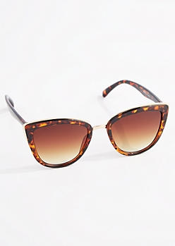 Tortoiseshell Gold Rimmed Cat Eye Sunglasses