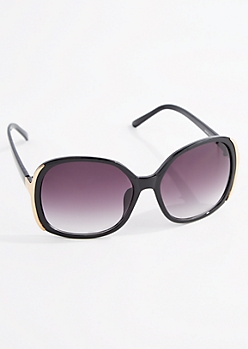 Oversized Glossy Rounded Sunglasses