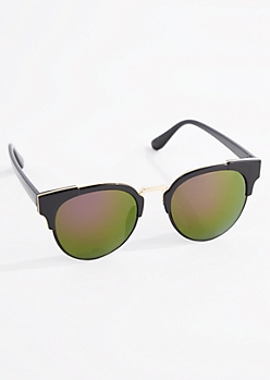 Gold Rimmed Retro Sunglasses