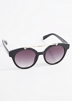 Glossy Golden Browbar Sunglasses